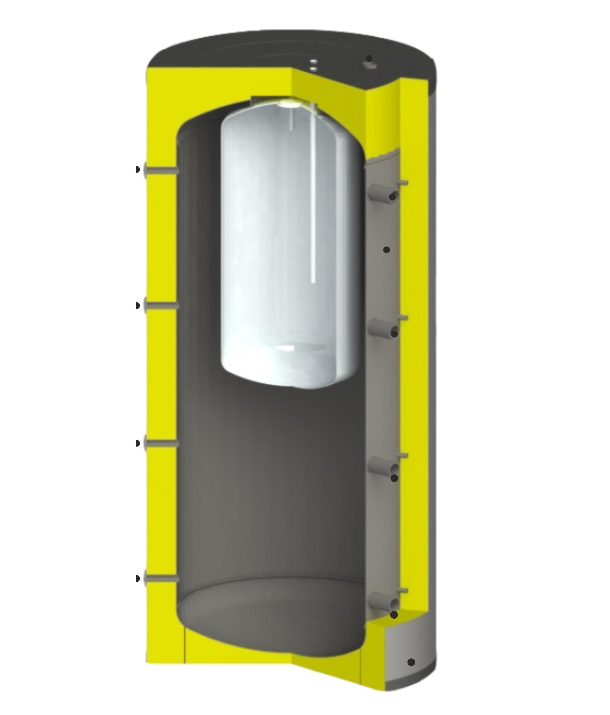 puffer tároló inox HMV tartállyal